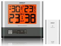 Термометр цифровой электронный RST02715 / IQ715 погодная станция  с радиодатчиком, с оранжевой подсветкой и часами-будильником